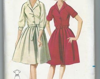 Vintage 1960s Butterick 3364 raglan sleeve shirtdress size 14