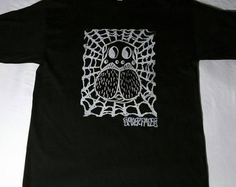 SPIDERFACES Lino-print  Tshirt