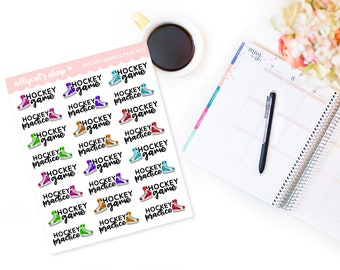 Hockey Game & Practice - Planner Stickers