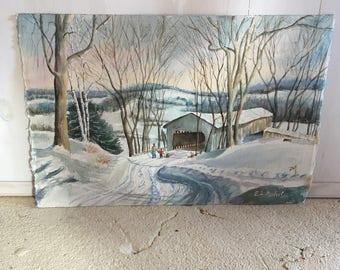 Unframed Winter Scene