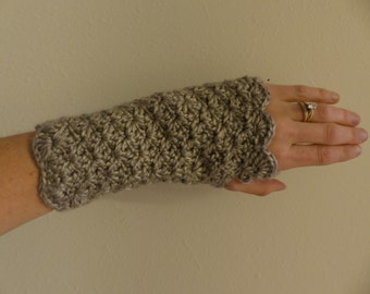 PDF Scalloped Fingerless Glove Crochet Pattern