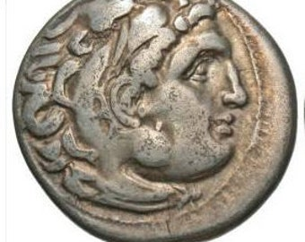 Alexander the Great Authentic Ancient Silver Coin Minted 310-301 B.C. Authenticated By David Sear