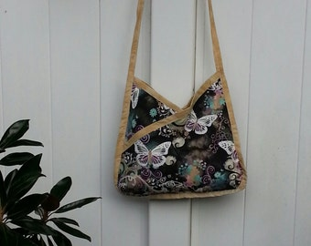 Abstract Butterfly Hobo Apron Bag