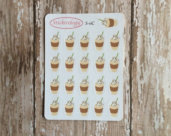 Frappuccino Stickers, Coffee Stickers, Coffee Break Stickers,  Bullet Journal Stickers, C-6.