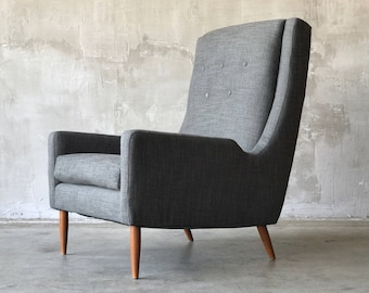 Mid century wingback chair