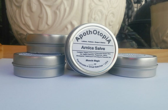 Arnica Salve - Ointment - Balm, Organic, Eco Friendly Sprains, Strains & Injury Support