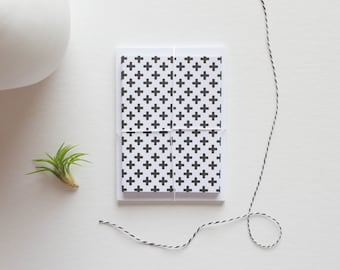 geometric note card, stationary cards, stationery set, blank cards, blank note cards, note card set, modern stationary, black and white