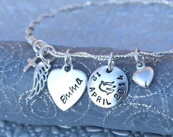 Confirmation Personalized Bangle Bracelet in Sterling Silver