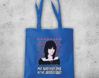 Inspired By Joan Jett I Love Rock N Roll American Rock Singer Runaways Unofficial Cotton Tote Bag Shopper