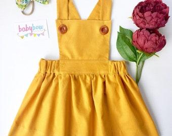 Ava Pinafore dress corduroy (Pinny dress)