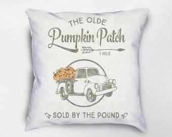 Fall Pillow, Fall Decor, Autumn Decor, Autumn Pillow, Pumpkin Patch Pillow, Halloween Pillow, Modern Farmhouse Pillow, Farmhouse Decor