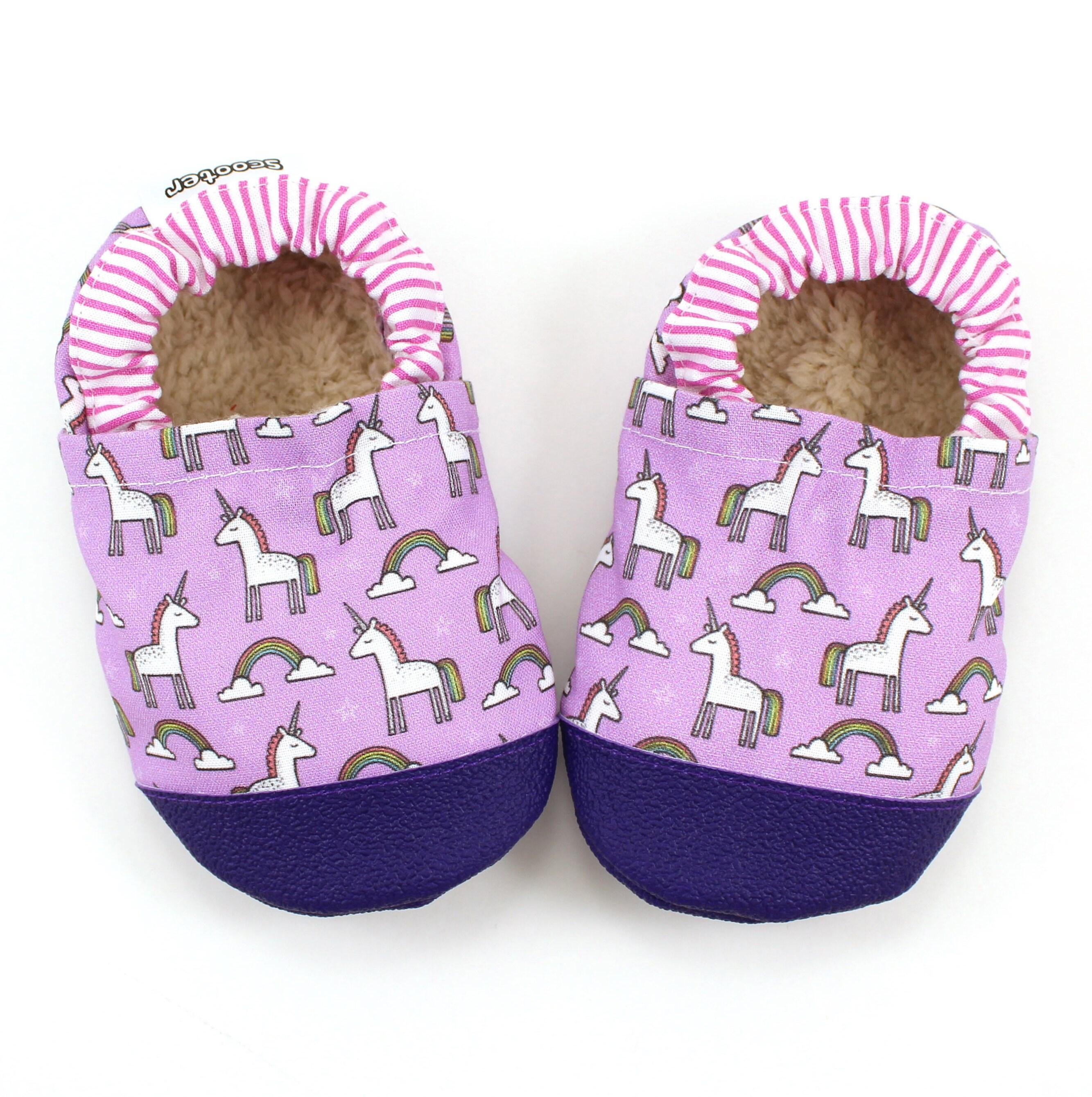 unicorn shoes unicorn booties pink and purple baby girl