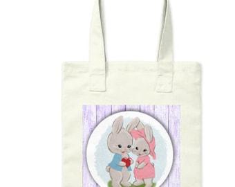 Adorable Easter Bunny Couple Bag