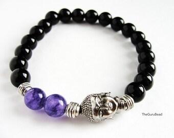 Amethyst Buddha Bracelet,