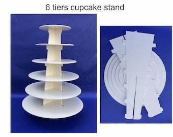 6 round tier cupcake stand