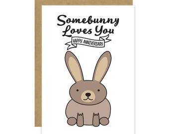 Somebunny Loves You Fine Art Greeting Card