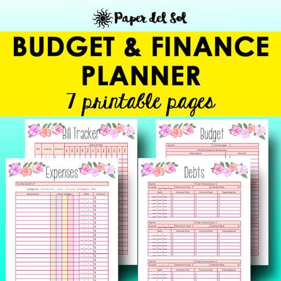 monthly budget planner book finance planner worksheets