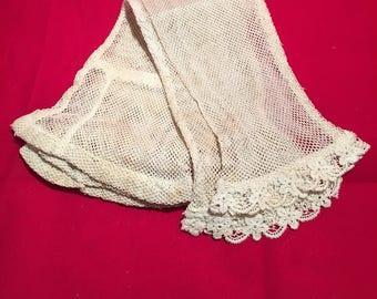 Victorian Net Sleeves Bridal Gloves