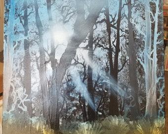 Golden Rays of Sunshine 16x20 (Bob Ross Inspired)