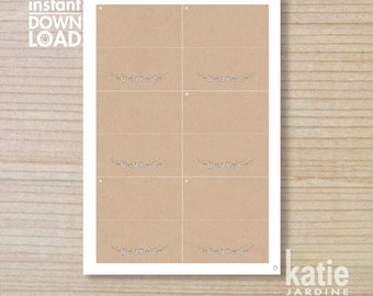 wedding food tent - brownpaper  - printable - 4x6 - countrystyle - daisy illustration - single daisies