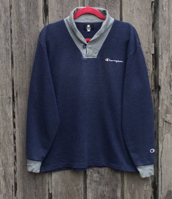 Vintage !!Rare champion spell out big logo sweatshirt jRdEXMy0uN