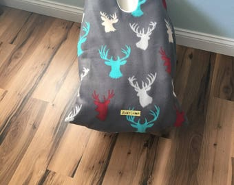 Infant Car Seat Blanket, colorful deer car seat cover, car seat carrier blanket, stroller blanket, winter travel, car seat cover, baby gift