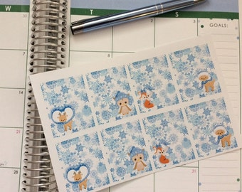 Full Box Winter Stickers Perfect for Erin Condren Life Planner & Other Planners