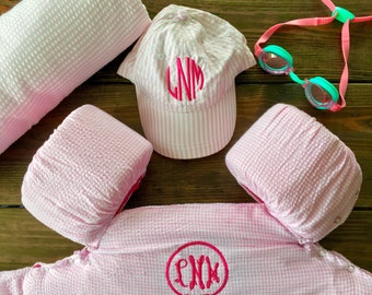 Pink Gingham Puddle Jumper Cover