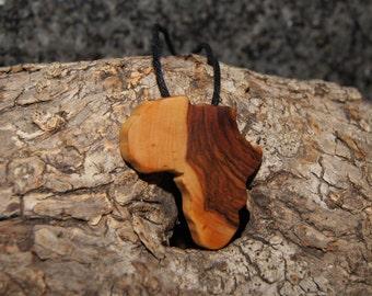 Olive Wood Pendant, wood jewelry, Africa