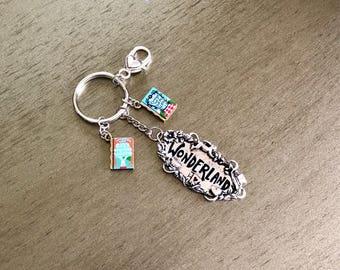 Wonderland keychain from the book Alice in Wonderland