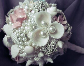 Elegant Shell Bridal Bouquet