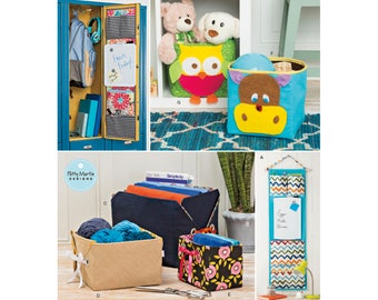 Simplicity 8309 Pattern, Sewing Pattern, Organizers Pattern, Bucket Pattern, Basket and Tote , Craft Organizer, Bathroom and Storage Pattern