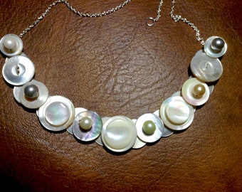 Classic Elegance button necklace