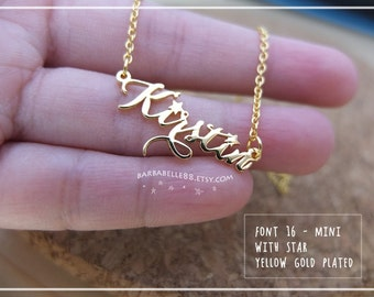 Name Necklace-Personalized Name Necklace-Custom Name Gift-Your Name Necklace-Bridesmaids-Birthday -Children Names-Tiny Name necklace. #MNF16