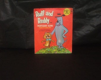 Vintage Hanna Barbera RUFF and REDDY Professor Gizmo Record