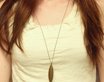 Long boho necklace / Brass necklace / Long layering necklace / Long brass necklace / Bohemian