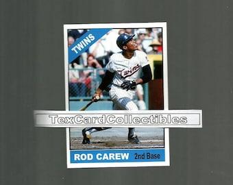 Rod Carew Minnesota Twins New, Custom Made 1966 Style Baseball Card. Mint Condition. Career Statistics On The Back.