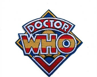 Dr Who Embroidered Patch, Iron on, Fan Patch, Fandom, patchgame, Retro Patch, Retro TV patch, TV series, Logo patch, patchgame, Jacket, Fun