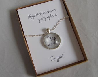 My Greatest Success Was Gift Key Ring or Pendant and Card, Wife's Birthday Gift, Wife Christmas Present,