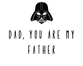 Funny Father's Day Card - Starwars