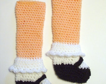 Maryjane Legwarmers crochet pattern pdf 657 permission to sell finished products