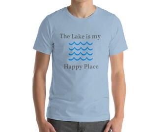 Lake T-Shirt, Vacation Tshirt, Lakeside Tshirt, The Lake is my Happy Place, Cabin Tshirt, Fishing Shirt