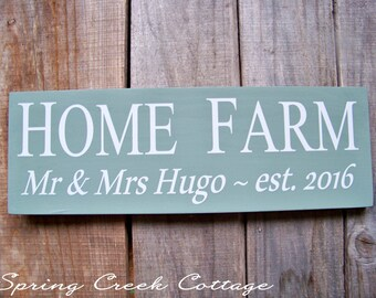 Rustic Farmhouse Signs, Personalized Signs, Established Sign, Wood Signs, Home Decor, Handpainted Signs, Housewarming Gifts