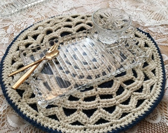 Custom Lace Mandala Placemat, set of 2
