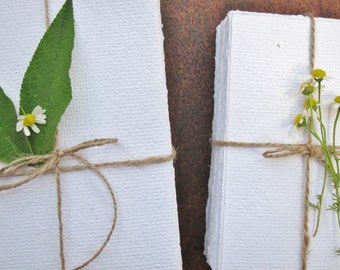 SAMPLE piece of White Handmade Recycled Paper, Natural paper, Eco Wedding paper, Writing paper, Art paper, Craft paper,Printing paper