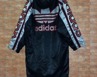 Parka Veste Vintage Adidas Pull Sweat Hiver Capuche Gwqbfagh À xqqT41I