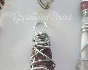 CrystallizingDreams Gorgeous Purple Amethyst Spirit Quartz Necklace Pendant