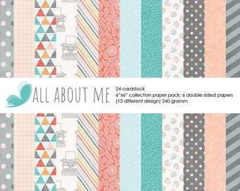 """Scrapbook Paper Pad Double-Sided Paper Pad 6""""X6"""" Cardstock"""