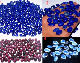 Natural Lapis lazuli Red Garnet Mistiq Quartz Mix Cut Stone Cabochon Loose Gemstone Free Shipping Cabochon Top Qualityf  Cabs for Jewelry