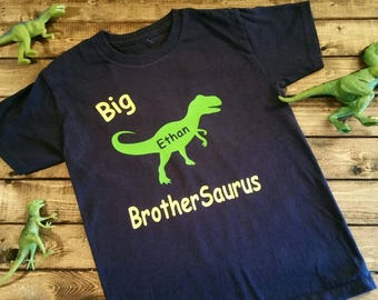 Big Brother, Sister, Daddy, Mommy, Nana, Papa, Saurus Dinosaur Shirt